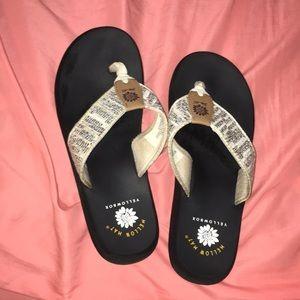 Black and White Flip Flops